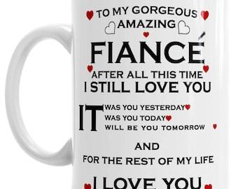 Witzige Neuheit Kaffeetasse I Love You Mehr als Pizza Husband Boyfriend