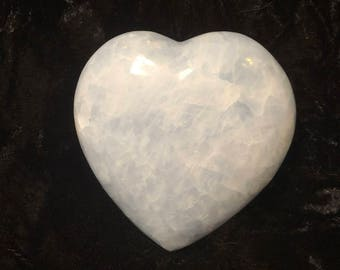 Blue Calcite Heart - Large