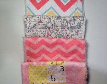 Fashionable babe 4 burp cloths gift set
