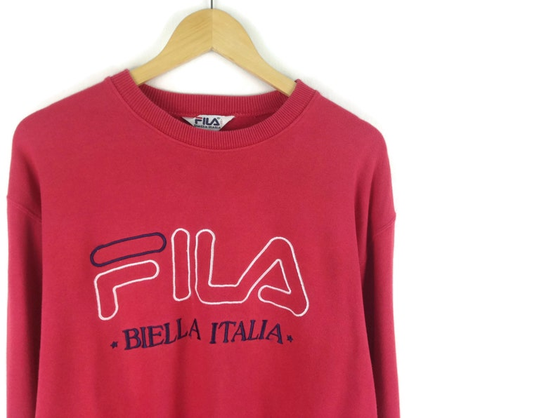 6d76ed54 Red Fila Sweatshirt Size Medium / Fila Vintage / 90s Hip Hop Clothing /  Vintage Fila / Vintage Sweatshirt
