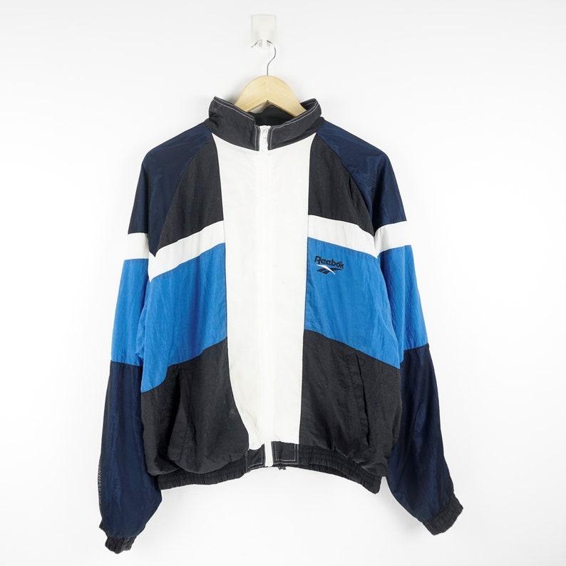 87a682a92e1f1 Reebok Vintage Windbreaker / Windbreaker Vintage / 90s Windbreaker / 90s  Hip Hop Clothing / Neon Windbreaker / 90s Clothing / Vtg Track top