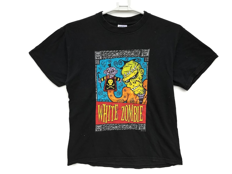 641dfdc84651d Vintage 90s White Zombie Rob Zombie Promo Album Tour T Shirt / Vintage  Clothing / Vintage Shirt