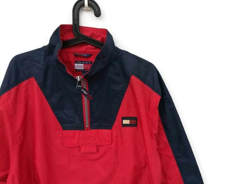 498e53d05 Vintage Tommy Hilfiger Neon Jacket Windbreaker / Tommy | Etsy