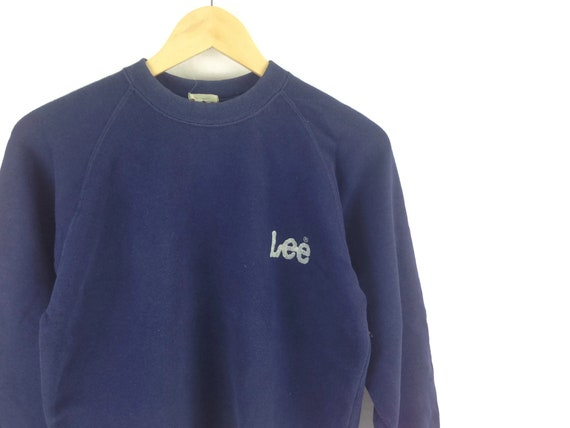 Vintage LEE Denim Small Logo Vintage Sweatshirt Pullover Crewneck 90s Clothing Aesthetic Clothing