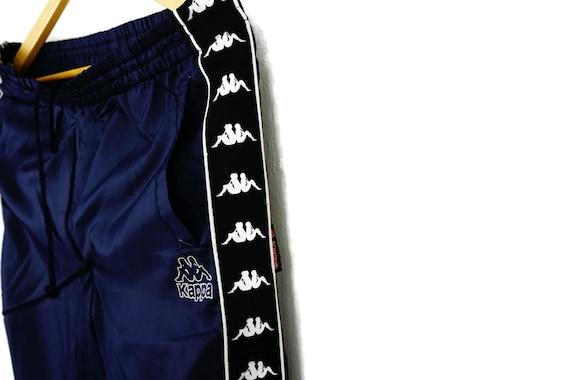 Vintage Dark Blue Kappa Side Tape Jogges Track Pants Size Medium Kappa Vintage Kappa Pants Kappa Joggers
