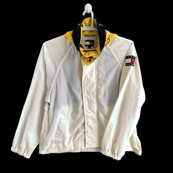 90s Tommy Hilfiger Multicolor Windbreaker Jacket /