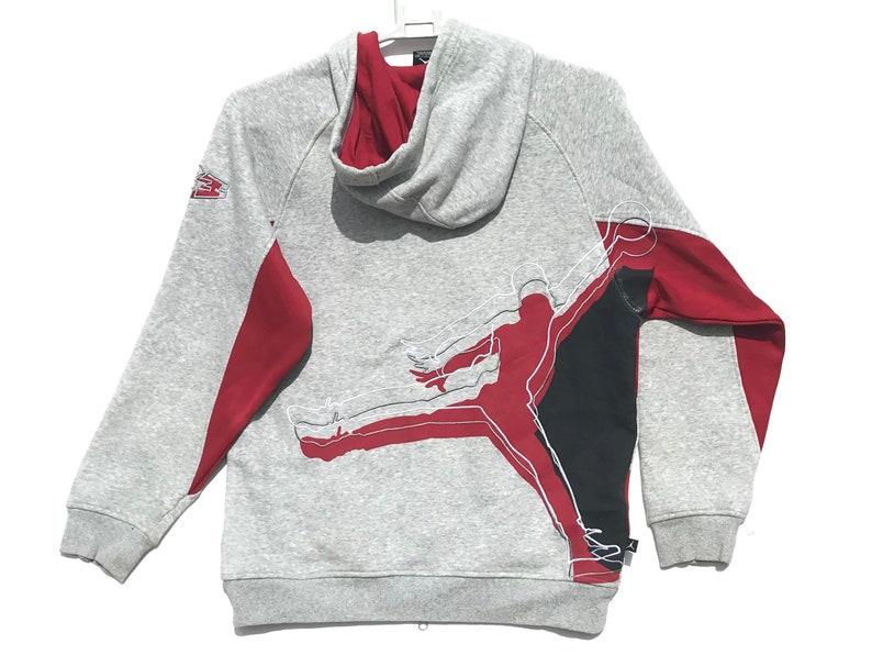 403b8a7befd1 Nike Air Jordan Jumpman Grey Tag Hoodie Sweater   Vintage