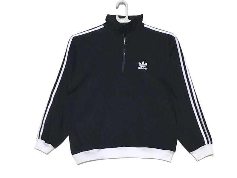 Olla de crack fibra homosexual  Adidas Sweatshirt Pullover Black / Adidas Vintage / Vintage   Etsy