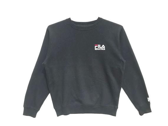 Fila Vintage Sweatshirt Black Vintage Sweatshirt Fila Sweatshirt Vintage Fila Fila Sweater Fila Hoodie Aesthetic Clothing