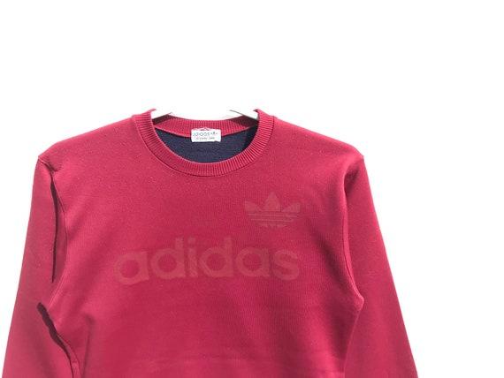 Adidas Vintage Sweatshirt Maroon / Adidas Trefoil