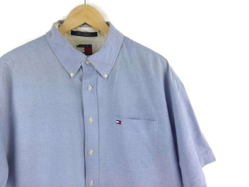 Tommy Hilfiger Blue Buttons Down Shirt Office Wear Work Wear Size Xl