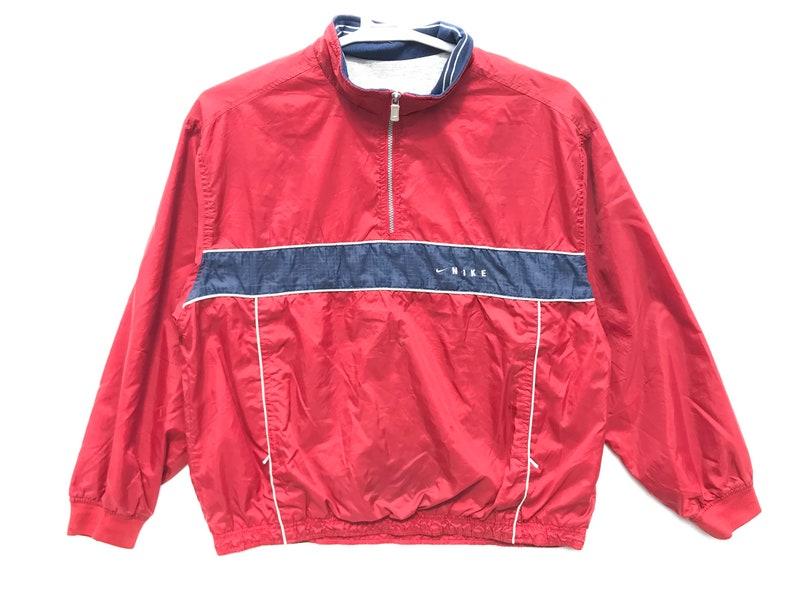Rare! Nike Windbreaker Red Nike vintage Nike Windbreaker Nike Jacket Vêtements esthétiques Veste vintage tumblr Vêtements