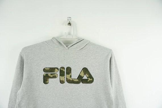Fila Hoodie Camo Spellout / Fila Sweatshirt / Fila
