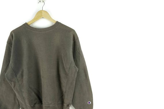 Vintage Champion Brown Crewneck Jumper Sweatshirt