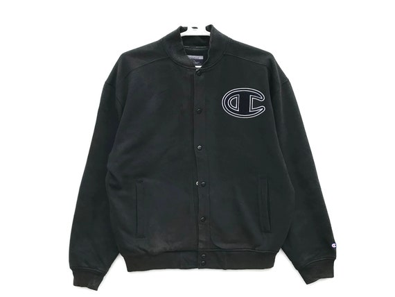 Black Champion Big C Vintage Jacket / Vintage Cham