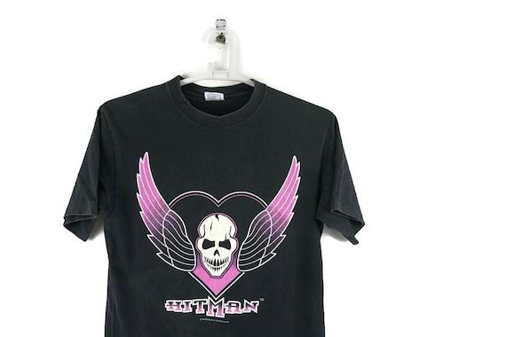 Vintage 90s Bret Hart Hitman WWF Shirt / Vintage T