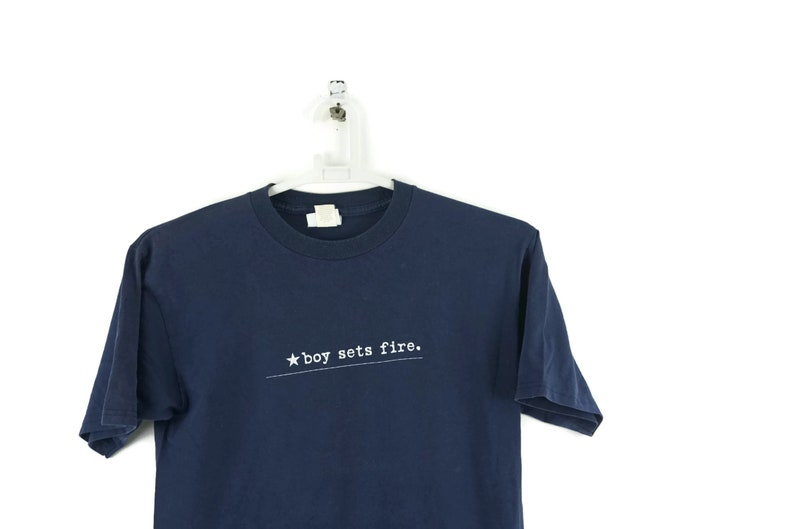 b4f27601d183d Vintage 90s Boy Sets Fire The Day The Sun Went Out Album Promo Vintage T  Shirt