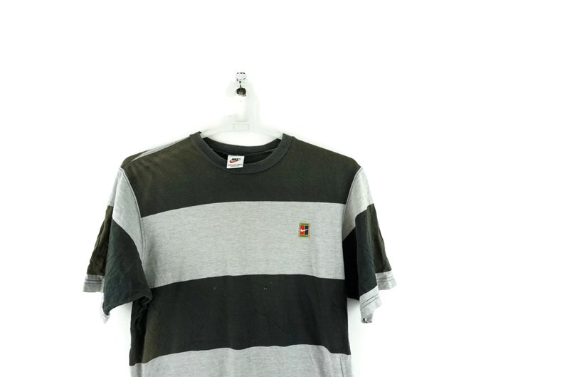 ce07bf633866 Vintage Nike Challenge Court Striped T Shirt   Nike Vintage