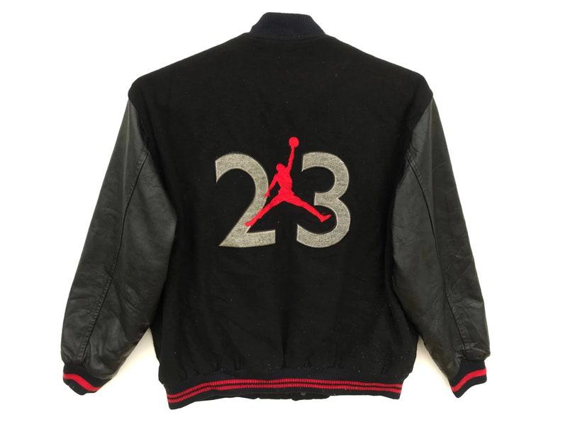 6a0948a72f8 Vintage Nike Air Jordan Jumpman Bomber Varsity Jacket /   Etsy
