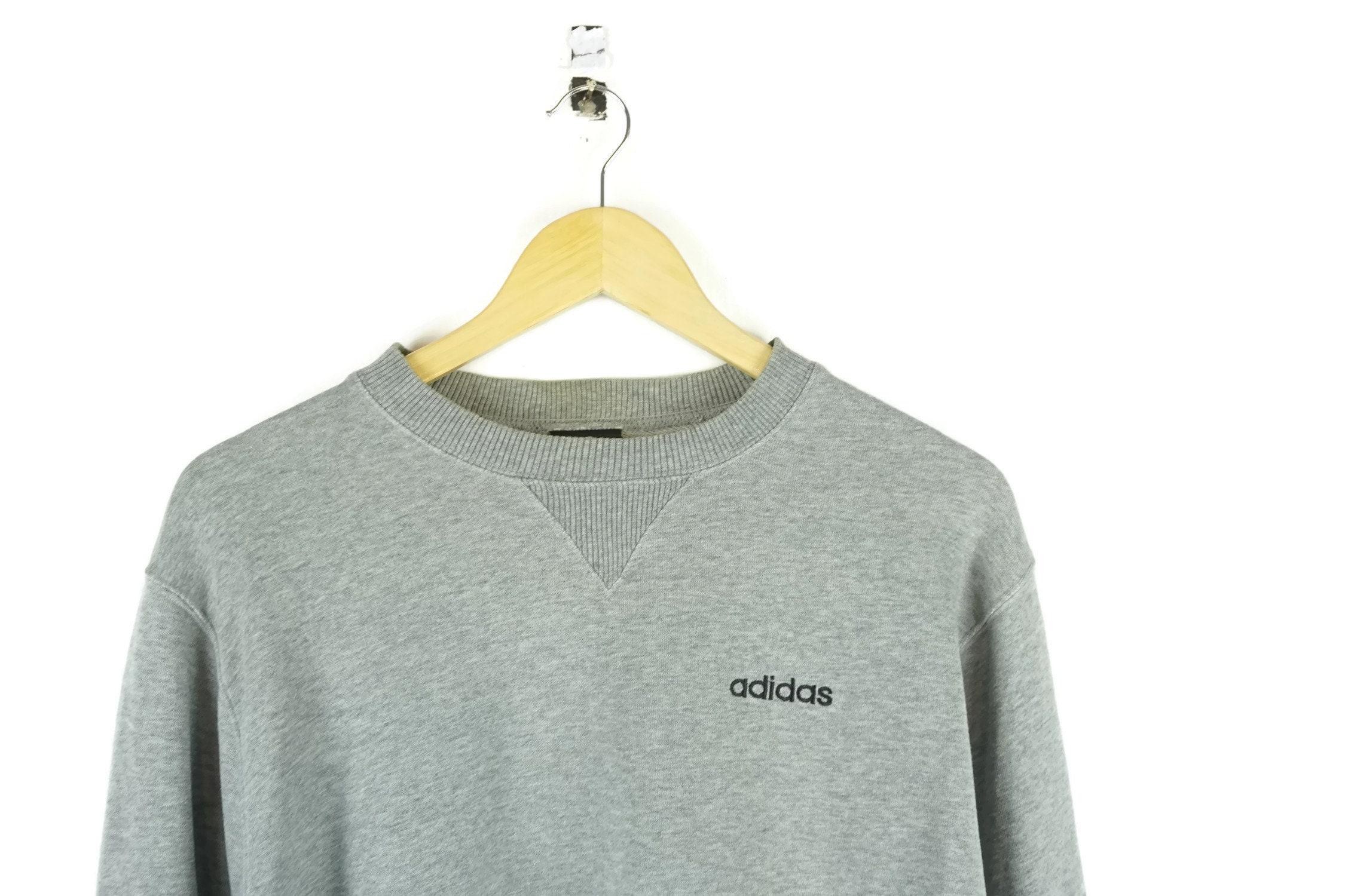 Aesthetic Sweater Sweatshirt Vintage Preppy Adidas Grey Clothing kn0w8OP