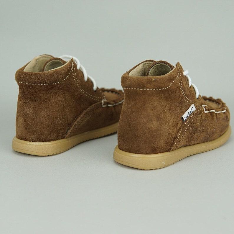 5b887d82ea018 Garçons marrons chaussures garçons bottes de Combat chaussures