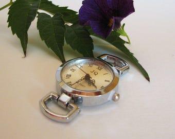 Antique Silver watch face, round quartz watch dial for create your unique watch