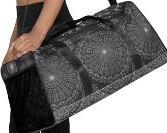 Charcoal Swearing Mandala Duffle bag