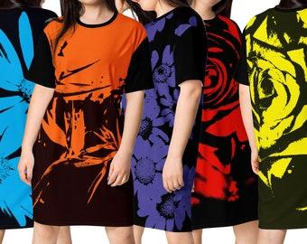sex FLOWERS: T-shirt dress