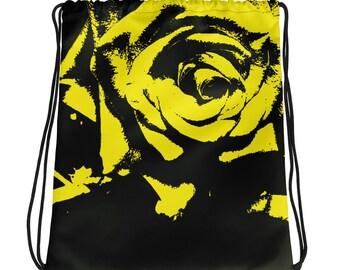 sex FLOWERS: Drawstring bags