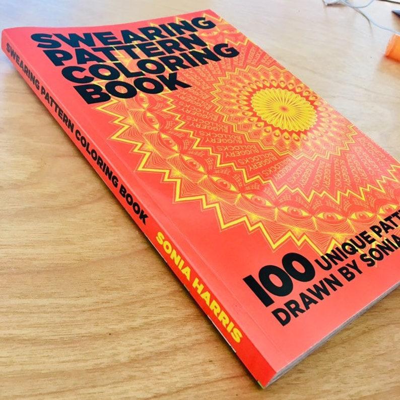 Swearing Pattern Coloring Book image 0