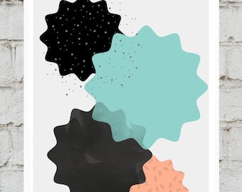 Geometric Texture Print Digital Download A3