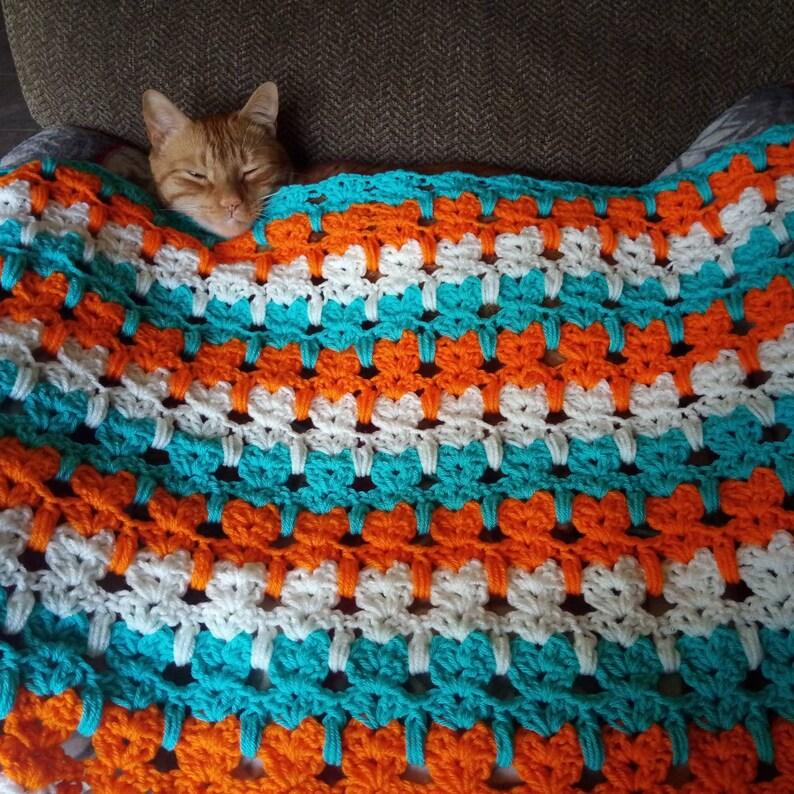 Abstract Kitty Crochet Blanket