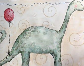 Brachiousaurus and Red Balloon