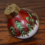 Hand-painted Gourd Christmas Ornament