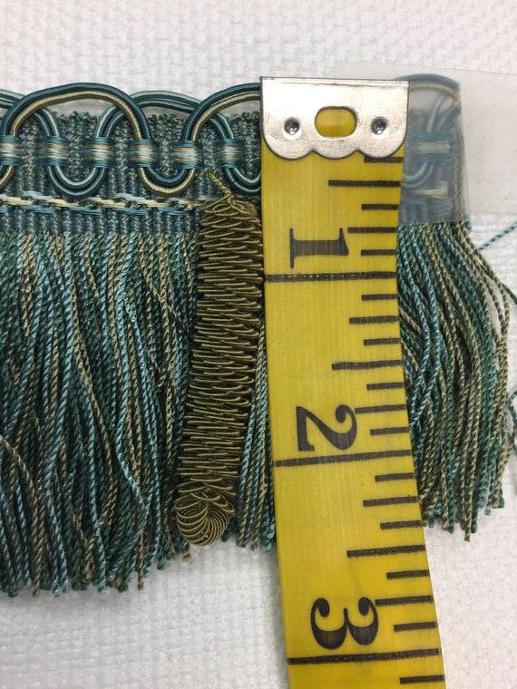 HOULES 33307-9788 frange «pomme de bleu/bronze pin» et pompon, bleu/bronze de - yard 2 pièces 8b01a9