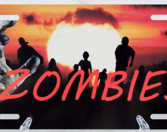 Walking Dead / Zombie License Plate