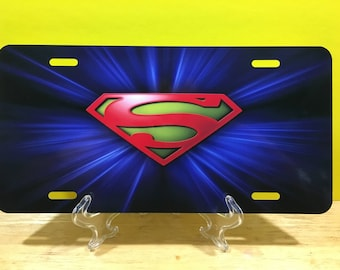 Superman License Plate