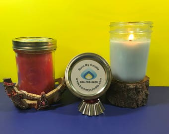 4 Large Scented Mason Jar Candles Free Shipping