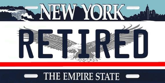 New York License Plate RETIRED Firefighter Fireman Red Lives Matter