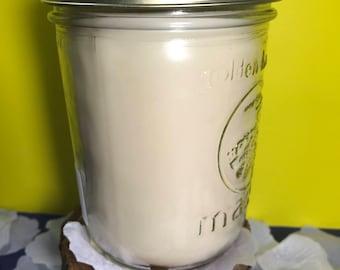 Vanilla Scented Large  Mason Jar Candles Free Shipping