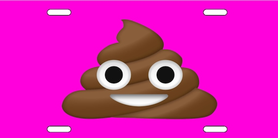 PISSED OFF POOP EMOJI  License Plate FREE SHIPPING!!!