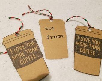 Coffee Lovers Christmas gift tags