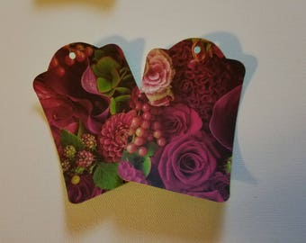Spring Flower Tags