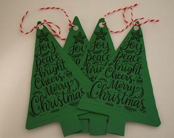 Christmas tree gift tags
