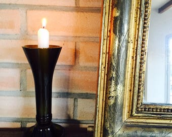 Recycled bottle glass candle holders