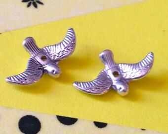Bird silver charm bead