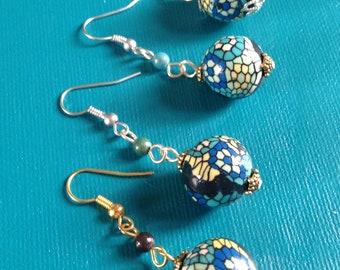 pair of earring mosaic