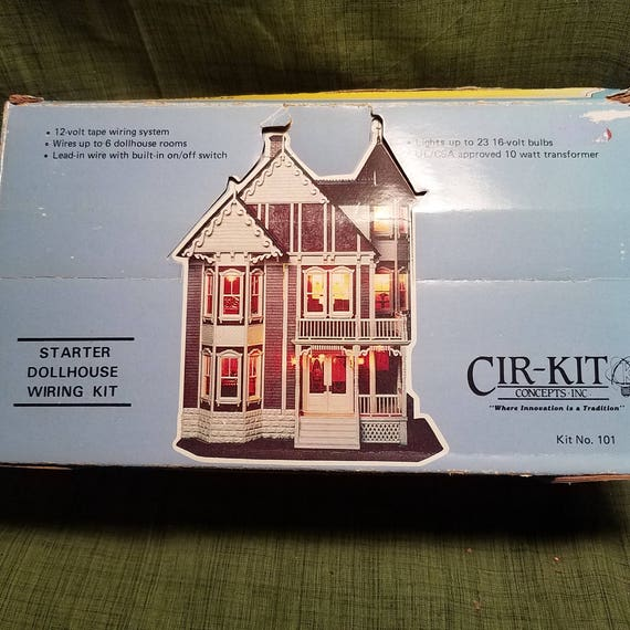 cir kit dollhouse wiring kit starter wiring kit cir kit no etsy rh etsy com