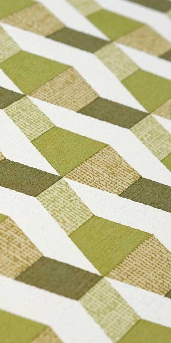 70s wallpaper #0623A running meter o roll  vintage wallpaper  geometric  roll