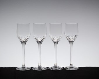e316c0e54b Vintage Orrefors Prelude Clear Sherry Glasses   Crystal Stemware   Liqueur  Glasses